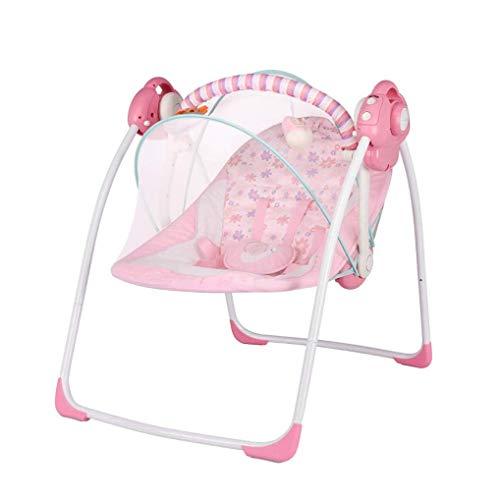 AJMINI Baby Swing Mecedora de Alta tecnología para bebé, Suave, Tejido de Felpa, Columpio para...