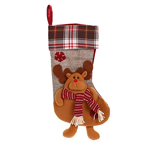 Demiawaking Weihnachten Strümpfe Süßigkeiten Taschen Geschenktüte Fuer Weihnachtsbaum Dekoration (Hirsch)