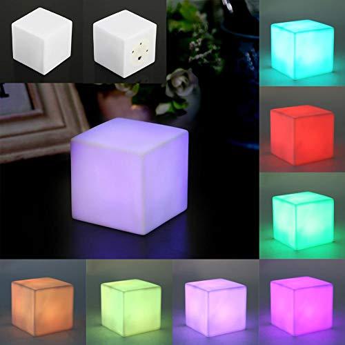 LED Nachtlicht Bunte Wechselnd Stimmung Cube Leuchttischlampe Gadget Flur Lampen Urlaub Wandleuchten für Home Wohnzimmer Party Desk Wall Decor