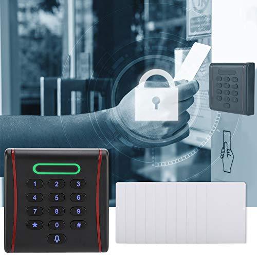 Ufolet Sistema de Control de Acceso, Panel de Teclado Inteligente multifunción Sistema de Control de Acceso de Puerta con Teclado retroiluminado, microprocesador Integrado de Alta Gama para(125Khz)