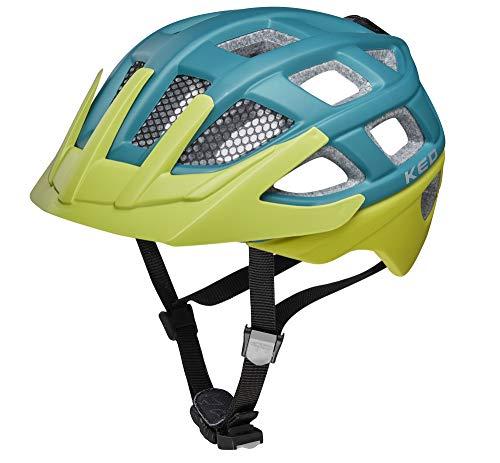 KED Kailu S Petrol Green matt - 49-53 cm - inkl. RennMaxe Sicherheitsband - Fahrradhelm Skaterhelm MTB BMX Kinder Jugendliche