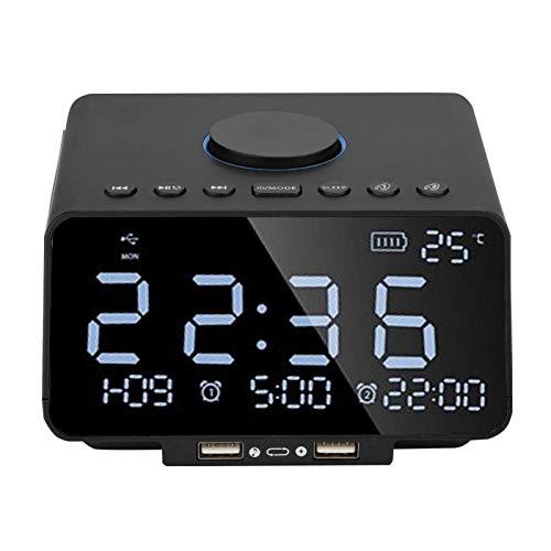 Gaeirt -Lautsprecher 4.2 Speicherkarten-Lautsprecher mit großer Taste für USB-Geräte(Schwarz)