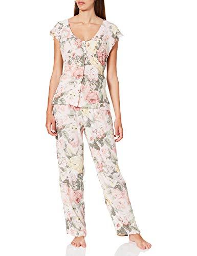 Women' Secret Short Sleeves Masculine Pyjama Pijama, Estampado Blanco, L para Mujer