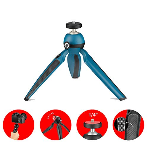 Joby JB01558-BWW- Handypod Mini Trépied et Poignée Deux-en-un pour Rèflex, Compact, Hybride, Lumières LED, Microphones, Haut-Parleur Portables, Caméra d'action et Accessoires jusqu'à 1Kg - Mars Vert