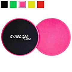 ★ ULTIMATE CORE ENGAGEMENT ★ – Synergee Core Sliders are perfect for fun and challenging full-body workouts. The Sliders introduce a balance and stability challenge to every movement, which forces you to engage your core muscles and results in your a...