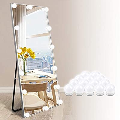 LED Vanity Lights for Mirror - Hollywood Style Makeup Vanity Lights with 14 Dimmable Light Bulbs for Makeup Dressing Table and Power Supply Plug in Lighting Fixture Strip (Mirror Not Include)