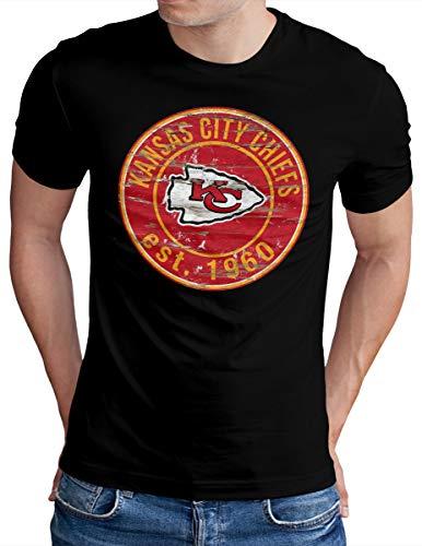 Taille Fabricant : 4XL Noir FR New Era Kansas City Chiefs T-Shirt Homme