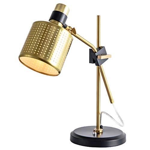 Lámparas de Escritorio Lámparas cubierta de la red simple lámpara de mesa de noche nórdica dormitorio con el interruptor de la lámpara de tabla Sala de estar Sofá de esquina de lujo Lámpara de Mesa