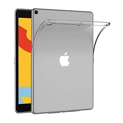 AICEK Funda Compatible Apple iPad 7, Transparente Silicona Fundas para iPad 7 2019 Modelo, 7ª Generación Carcasa Silicona Funda Case (10,2 Pulgadas)