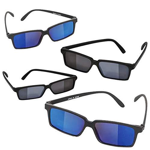 Kicko Spy Gafas de sol – Paquete de 4, gafas de visión trasera, gafas frescas y únicas, para niños, accesorios de disfraces, recuerdos de fiesta,...