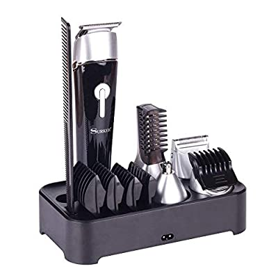 Multifunctional Men's Grooming Set with Electric Hair Clipper, Dual Shaver, Precision Trimmer, Nose Ear Trimmer, Body Trimmer