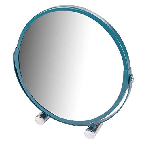 Paris Prix - Miroir à Poser Grossissant Vitamine II 17cm Bleu Canard