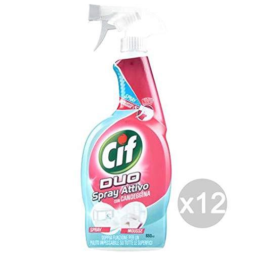Set 12 CIF Duo Spray Active Bleach 650 Et Nettoyant La Maison De Nettoyage