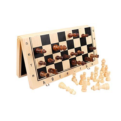 Ajedrez Internacional Juego de ajedrez Plegable magnético de Madera, Juego de Mesa de ajedrez con Almacenamiento portátil for niños perfectos for niños y Adultos (Color : 24CM)