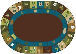 Carpets for Kids 37706 Learning Blocks Nature Kids Rug Rug Size: Oval 6' x 9'