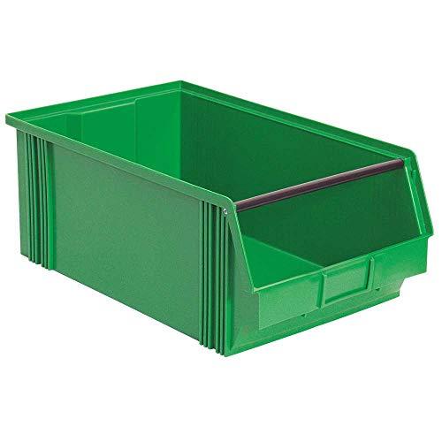XL Sichtbox CLASSIC FB 2, mit Tragestab, Industriequalität, LxBxH 510/450x300x200 mm, 27 Liter, grün