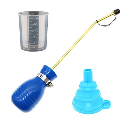 BITEYI Dispensador Aplicador de Insecticida en Polvo Antiinsectos Alimañas,Bombilla Tierra de Diatomeas Plumero Pulverizador (Azul)
