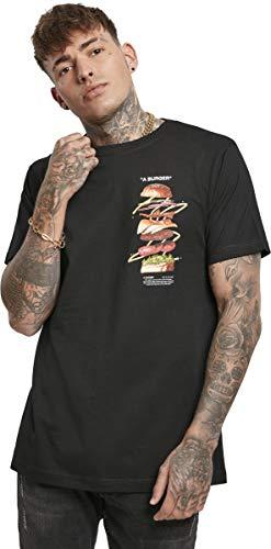 Mister Tee Mens A Burger Tee T-Shirt, Black, XL