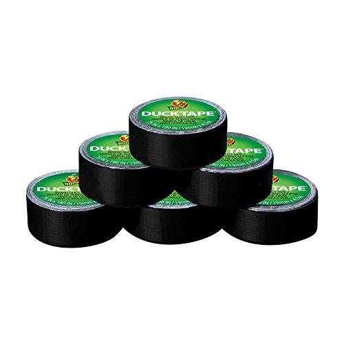 Duck Brand 284109 Ducklings Mini Duck Tape Rolls, Black.75-Inch by 15 Feet, 6 Rolls