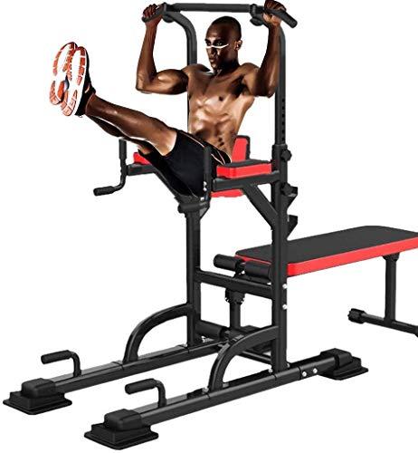 Power Tower Sit Up con panca per pesi regolabile Pull Up Dip Station sollevamento pesi panca allenamento forza allenamento multifunzione casa palestra allenamento fitness