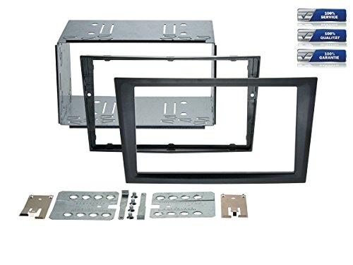 NIQ Doppel-DIN Radioblende geeignet für Renault Trafic/Opel Agila/Combo/Corsa C/Omega B/Vivaro *schwarz*