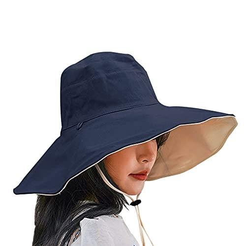 YouGa Gorro Pescador Plegables-Sombrero de Playa para Mujer con Protección UV,Sombrero de...