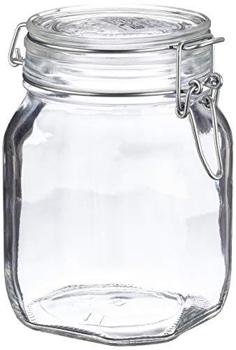 Drahtbügelglas 0,75 Liter Fido Bormioli Rocco mit Bügelverschluss und Gummiring
