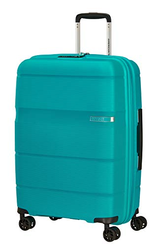 American Tourister Linex Spinner M, Valigia, 66 cm, 63 L, Blu (Ocean Blue)