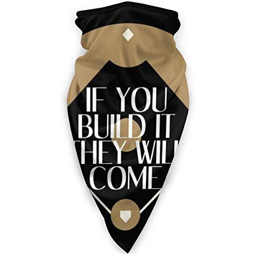 YUIT Wenn Sie es bauen, werden sie kommen Feld der Träume Schal Bandanas für Staub, im Freien, Festivals, Sport