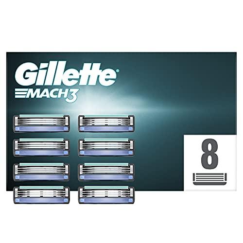 Gillette Mach3 Rasierklingen, 8 Rasierklingen pro Packung, aus präzisionsgeschliffenem Stahl für bis zu 15 Rasuren pro Klinge, aktuelle Version