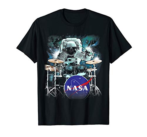NASA Astronaut Drum Solo In Space Graphic T-Shirt