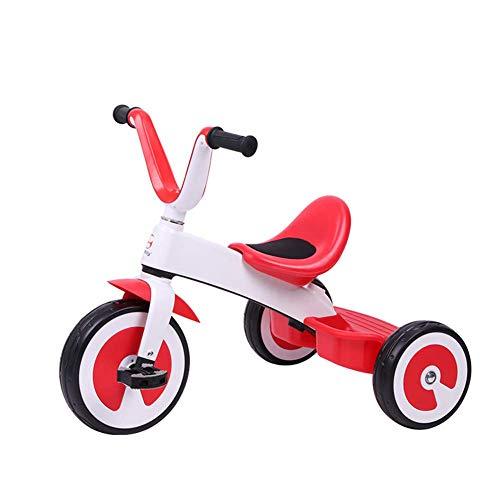 Hejok Tricycle à PéDale, VéLo Tricycle pour Enfants 3 Roues Smart Design Kids Enfant VéLo Tricycle Tricycle pour Enfants 2-6 Ans - Nouveau, Red