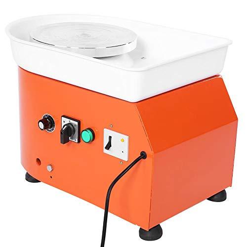 Ceramic Wheel, 250W Orange Pottery Wheel Machine Ceramic Throwing Shaping Tool Manual Speed Control(US Plug)