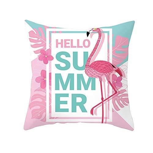 Fundas de cojín Fundas de Almohada decorativas Rosa Flamenco Terciopelo Suave Cuadrado Fundas de Cojines para Sala de Estar Sofá Cama Coche Decoración Throw Pillow Case V1817 Pillowcase,60X60cm