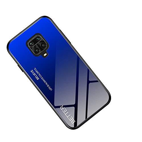 WINMI für Motorola Moto G9 Play Hülle,Ultra Thin TPU Silikon Grenze Shock Stylisch Schutzhülle,Farbverlauf-Glas Back Cover Handyhülle für Motorola Moto G9 Play-HL