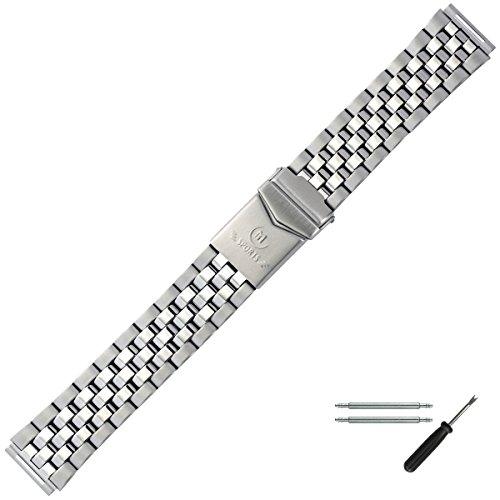 MARBURGER Uhrenarmband 18mm Edelstahl Silber - Werkzeug Montage Set 87602110020
