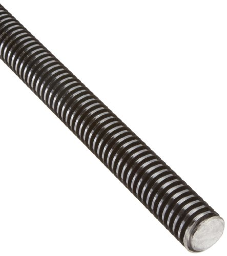 "Helix 11106 Right Hand Thread 4140 Steel 1 Start Acme Screw, 1"" Screw Diameter, 6 Turns per Inch, 0.167"" Lead, 3 Foot Length"