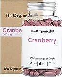 Original TheOrganical® Cranberry Kapseln | 100% natürlicher Extrakt | Volle Wirkung | 120 Kapseln mit 500 mg Cranberries | Made in Hamburg