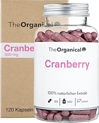Original TheOrganical® Cranberry Kapseln   100{b9bb5a13a25048f9fca65bba32fa1ab3da8620a68a902066b9af07838905377a} natürlicher Extrakt   Volle Wirkung   120 Kapseln mit 500 mg Cranberries   Made in Hamburg