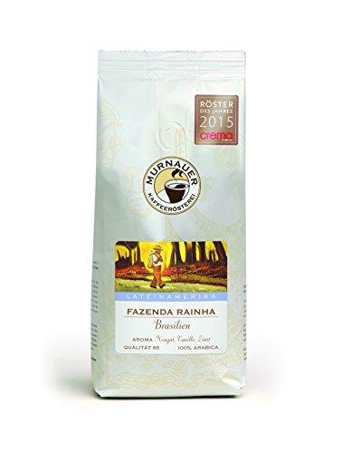 Murnauer Kaffeerösterei FAZENDA RAINHA - Kaffeebohnen aus Brasilien - Premium Kaffee - von Hand frisch & schonend geröstet - ideal für Espresso und Filterkaffee - 1000g