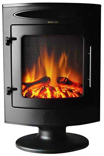 Cambridge CAM20FSEF-1BLK 1500W Freestanding Electric Fireplace with Log Display