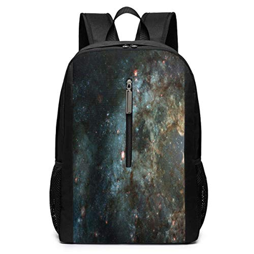 School Travel Business Bag Laptop BackpackBeautiful Nebula and Bright Stars in Outer Space, Casual Backpack Shoulder Rucksack Bag for Womens Mens Kids 17'