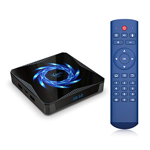 Puersit X96Q MAX TV Box Android 10.0 Allwinner H616 4GB 32GB 2.4G 5G Dual WiFi 4K Media Player BT5.0 Youtube Set Top Box With G30s Air Mouse (4G+32G)