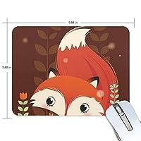 マウスパッド かわいい狐 ゲーミングマウスパッド 滑り止め 19 X 25 厚い 耐久性に優れ おしゃれ