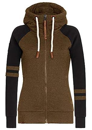 Hiistandd - Sudadera con capucha para mujer con capucha de invierno con cremallera y cremallera