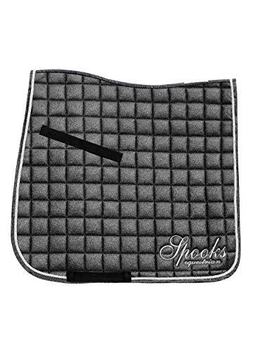 SPOOKS Dressage Pad Glitter (Farbe: dark grey; Größe: dressage)
