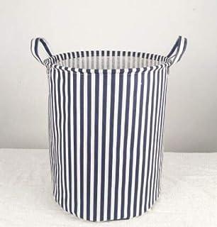 MJY Panier à linge, rayure environnementale pliante étanche Panier à linge Paniers de rangement pour vêtements Panier de r...