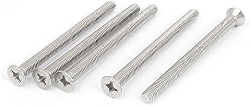 sourcingmap/® M6 x 80mm Tornillos de Cabeza Cil/índrica DIN912 de aleaci/ón de acero de accionamiento hexagonal interna 10pcs