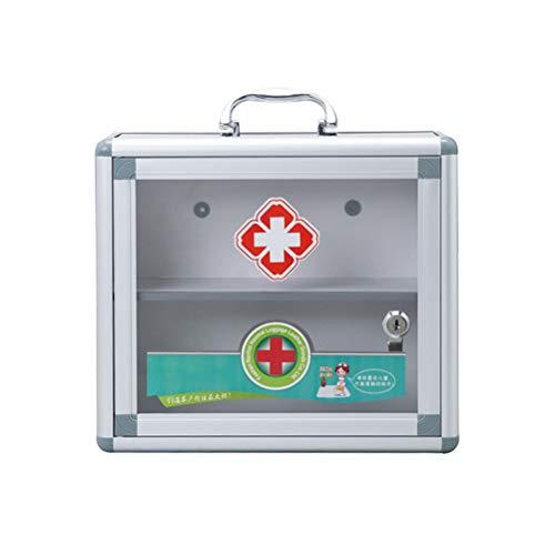 OTentW Abgeschlossener Hausmedizinschrank Medizinschrank aus Aluminiumlegierung Mehrschichtiger Medizinschrank Familienmedizinschrank Erste-Hilfe-Kasten
