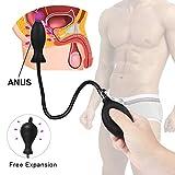 AMZFW Dil-d-o gonflable de simulation de massage gô-de, Peut être inséré 4.52 inch, pour répondre aux Besoins des fe-mm-ES,black